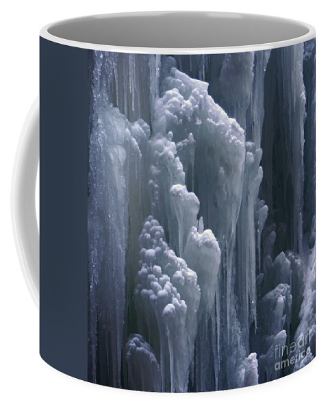Nature Coffee Mug featuring the photograph wall of ice in Partnach gorge 3 by Rudi Prott