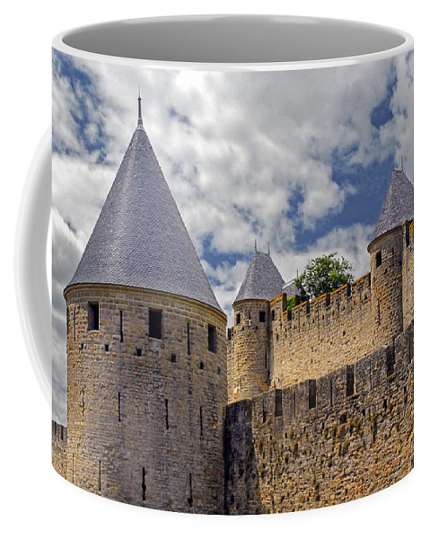 Carcassonne Coffee Mug featuring the photograph Walls Of Carcassonne by Dave Mills
