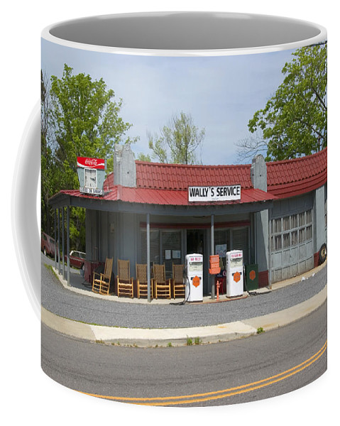 Wallys Service Station Coffee Mug featuring the photograph Wallys Service Station Mayberry by Bob Pardue