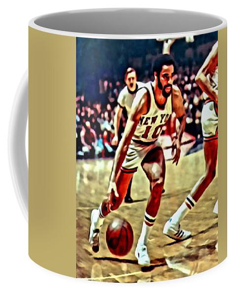 Walt Frazier Coffee Mug featuring the painting Walt Frazier by Florian Rodarte