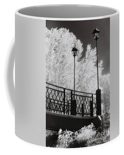 Infrared Coffee Mug featuring the photograph Wangaratta Footbridge by Linda Lees