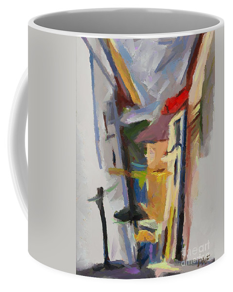 Landscapes Coffee Mug featuring the painting Warehouse Of Salt by Dragica Micki Fortuna