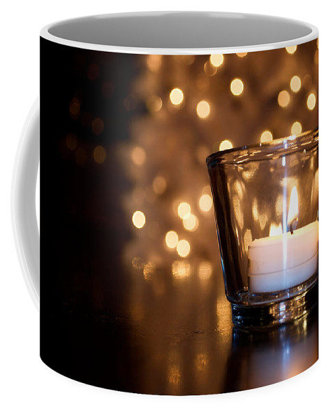 Christmas Coffee Mug featuring the photograph Warm Christmas Glow by Lisa Knechtel