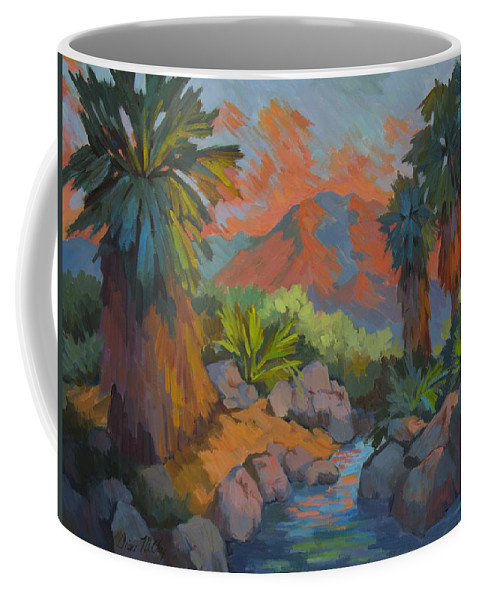 Desert Coffee Mug featuring the painting Warm Summer Afternoon 2 by Diane McClary