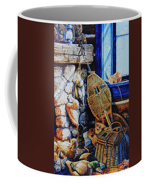 Masculine Still Life Paintings Coffee Mug featuring the painting Warm Winter Wishes by Hanne Lore Koehler