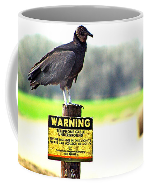 Warning Coffee Mug featuring the photograph Warning by Gary Richards