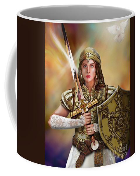 Bride Of Christ Coffee Mug featuring the painting Warrior Bride Of Christ by Todd L Thomas