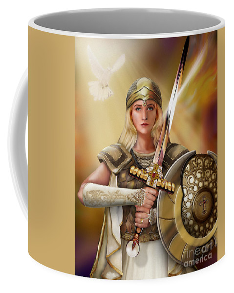 Bride Of Christ Coffee Mug featuring the painting Warrior Bride by Todd L Thomas