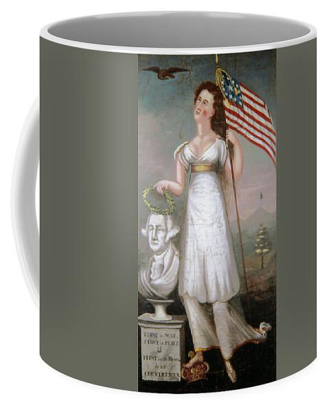 1810 Coffee Mug featuring the painting Washington & Liberty, C1810 by Granger