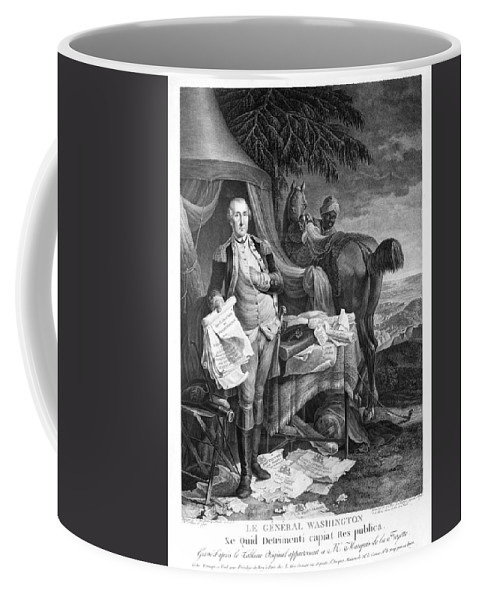 1781 Coffee Mug featuring the photograph Washington At Yorktown by Granger