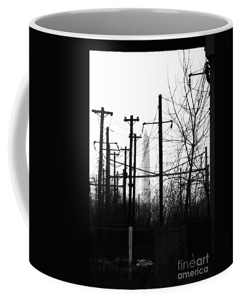 Manument Coffee Mug featuring the photograph Washington Monument From The Train Yard. Washington Dc by Thomas Marchessault