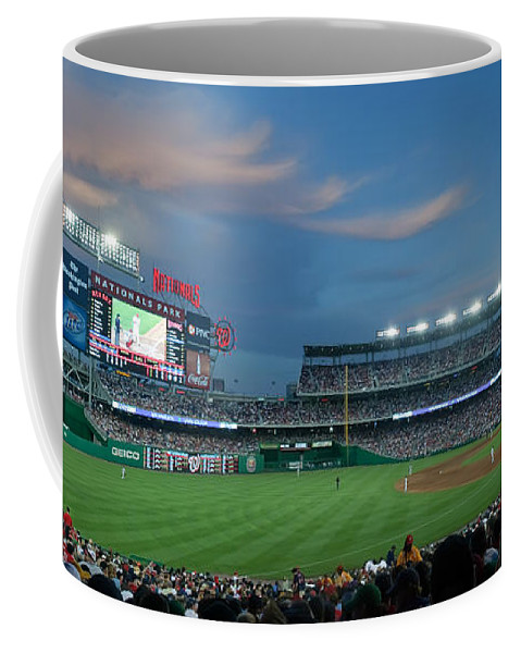 Red Sox Coffee Mug featuring the photograph Washington Nationals In Our Nations Capitol by Thomas Marchessault