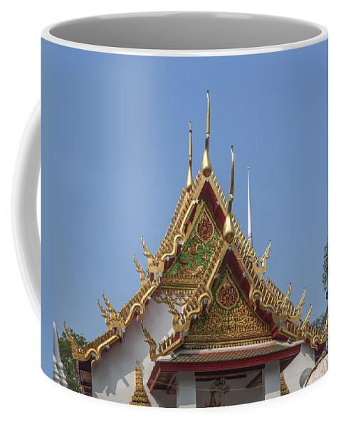 Scenic Coffee Mug featuring the photograph Wat Chumphon Nikayaram Phra Ubosot Gables Dtha0125 by Gerry Gantt