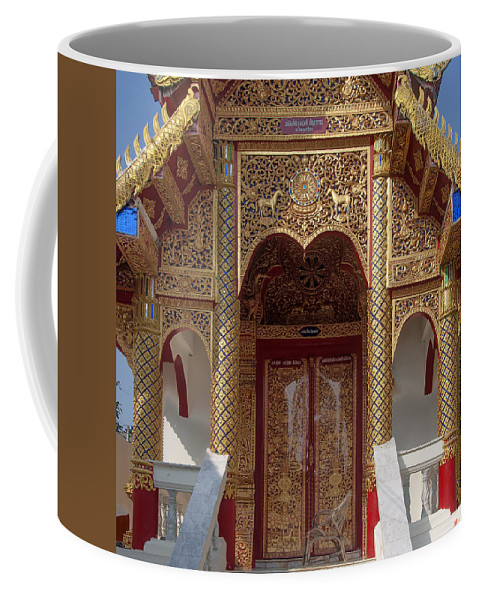 Scenic Coffee Mug featuring the photograph Wat Dok Eung Phra Ubosot Entrance Dthcm0353 by Gerry Gantt