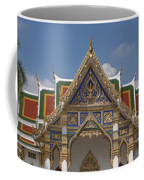 Bangkok Coffee Mug featuring the photograph Wat Phrasri Mahathat Ubosot Gable Dthb1465 by Gerry Gantt