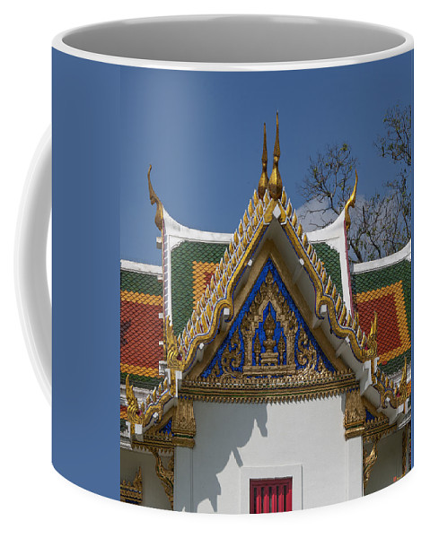 Bangkok Coffee Mug featuring the photograph Wat Phrasri Mahathat Ubosot North Wing Gable Dthb1469 by Gerry Gantt