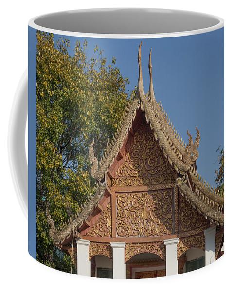 Thailand Coffee Mug featuring the photograph Wat Sri Don Chai Phra Ubosot Gable Dthcm0095 by Gerry Gantt