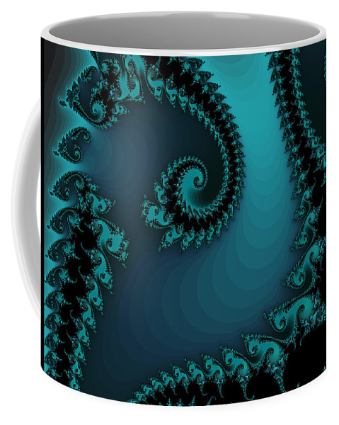 Fractal Art Coffee Mug featuring the digital art Watchers On The Chalcedony Slide by Elizabeth McTaggart