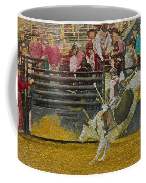 Rodeo Coffee Mug featuring the photograph Watchin by Alice Gipson