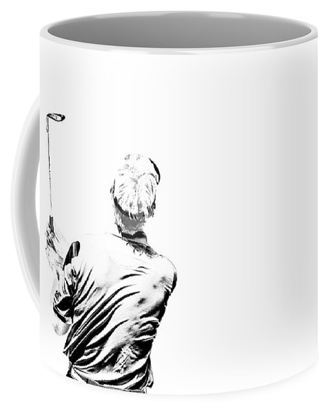 Golf Coffee Mug featuring the photograph Watching And Hoping by Karol Livote