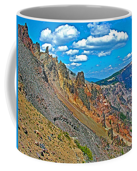 Watchman Overlook In Crater Lake National Park Coffee Mug featuring the photograph Watchman Overlook In Crater Lake National Park-oregon by Ruth Hager