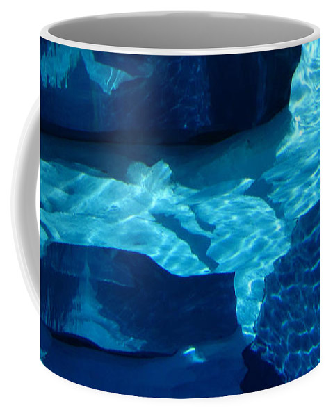 Blue Water Coffee Mug featuring the photograph Water Abstract 2 by Mary Bedy
