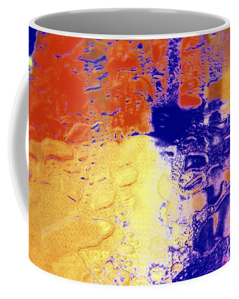 Yellow And Blue Coffee Mug featuring the photograph Water Blocks by Deborah Crew-Johnson