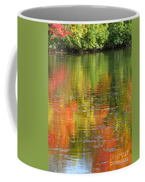 Autumn Coffee Mug featuring the photograph Water Colors by Ann Horn