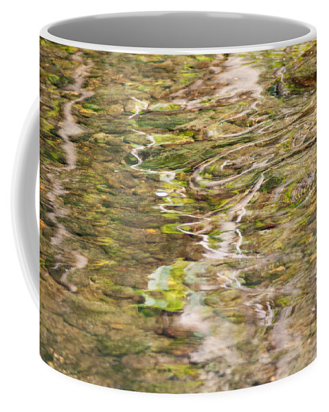 Optical Playground By Mp Ray Coffee Mug featuring the photograph Water Reflection by Optical Playground By MP Ray