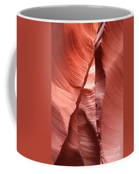 Arizona Slot Canyon Coffee Mug featuring the photograph Water Sculpted Walls by Adam Jewell