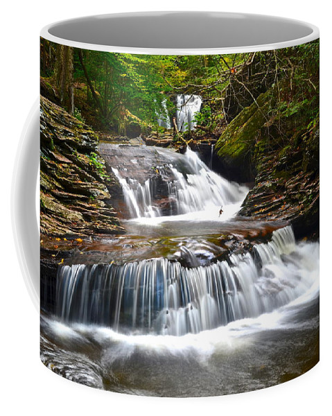Oasis Coffee Mug featuring the photograph Waterfall Oasis by Frozen in Time Fine Art Photography