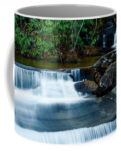 Optical Playground By Mp Ray Coffee Mug featuring the photograph Waterfalls Of Carreck Creek by Optical Playground By MP Ray