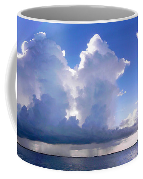Thunderstorms Coffee Mug featuring the photograph Waterfalls Over Florida Bay Filtered by Duane McCullough
