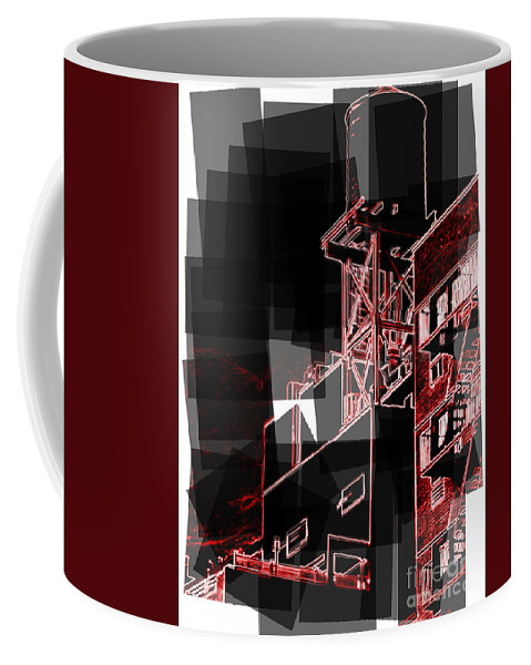 New York Coffee Mug featuring the photograph Watertower 1950s by Miriam Danar
