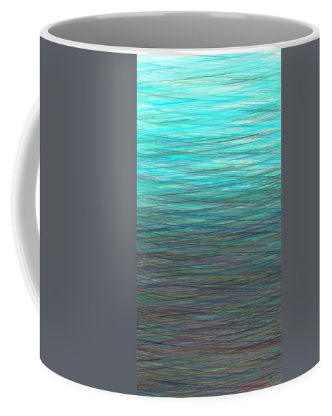 Watery Deep Coffee Mug featuring the digital art Watery Deep by Will Borden