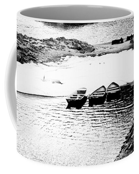 Boats Coffee Mug featuring the photograph Wating For The Thaw by Cat Connor