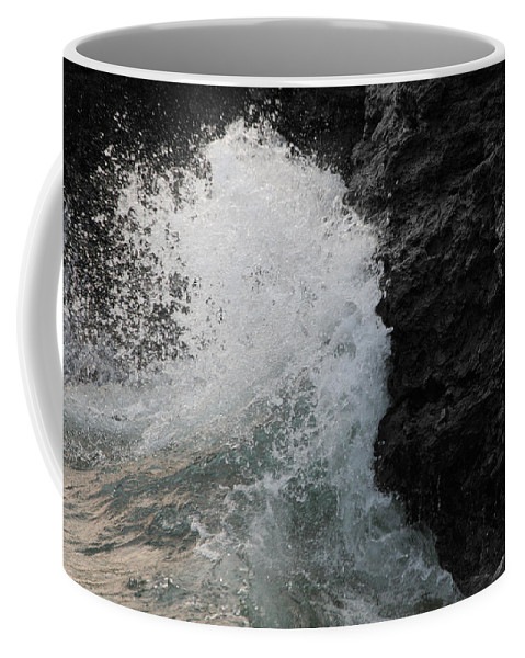 Unique Coffee Mug featuring the photograph Wave Crash by Dylan Punke