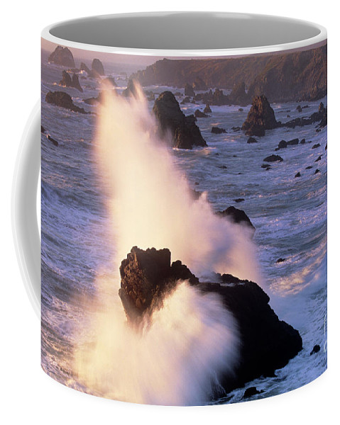 California Coffee Mug featuring the photograph Wave Crashing On Sea Mount California Coast by Dave Welling