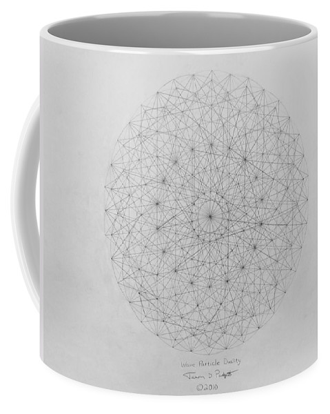 Wave Coffee Mug featuring the drawing Wave Particle Duality Original by Jason Padgett