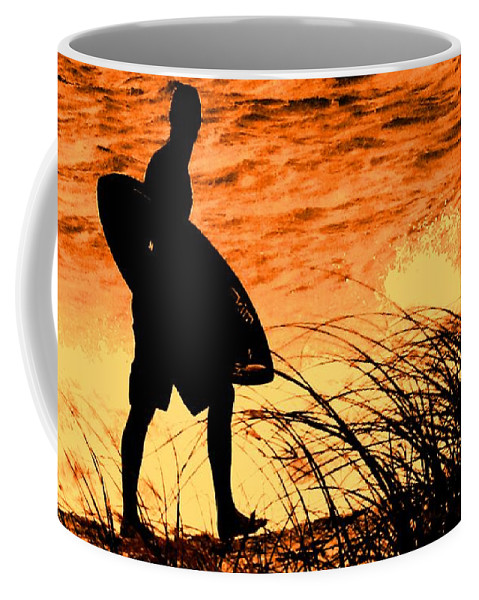 Florida Coffee Mug featuring the photograph Wave Search by Ian MacDonald