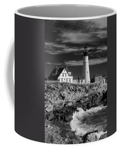 Atlantic Ocean Coffee Mug featuring the photograph Waves Crashing by Guy Whiteley