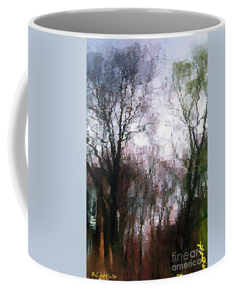 Connecticut Coffee Mug featuring the painting Wavy Willows by RC DeWinter