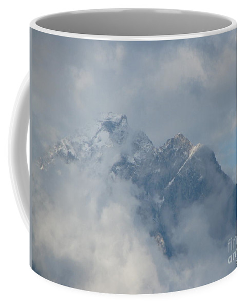 Patzer Coffee Mug featuring the photograph Way Up Here by Greg Patzer