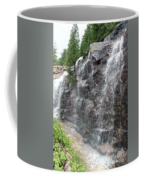 Wayside Coffee Mug featuring the photograph Wayside Waterfall - Acadia Np by Christiane Schulze Art And Photography