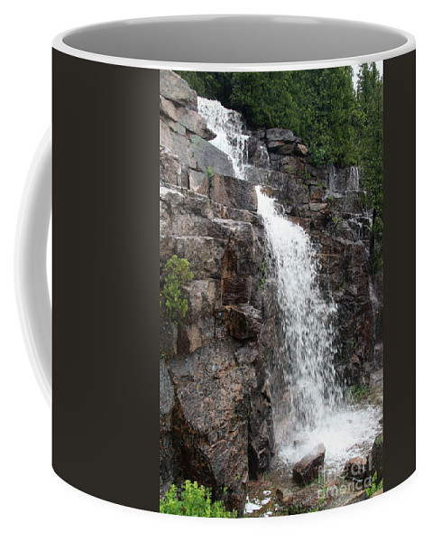 Wayside Coffee Mug featuring the photograph Wayside Waterfall I - Acadia Np by Christiane Schulze Art And Photography