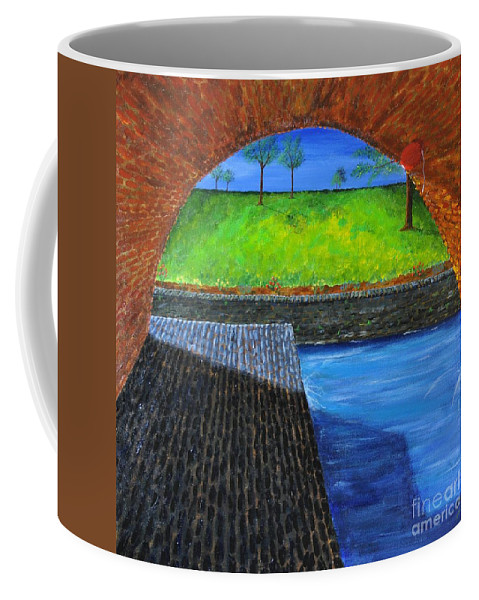 Water Coffee Mug featuring the painting We All Float Down Here by Declan Leddy