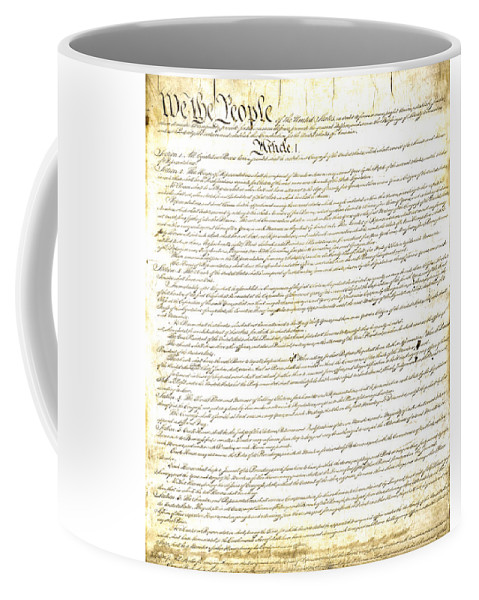 Constitution Coffee Mug featuring the photograph We The People Constitution Page 1 by Charles Beeler