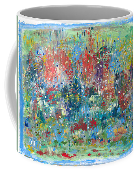 Contemporary Coffee Mug featuring the painting Weeds by Bjorn Sjogren