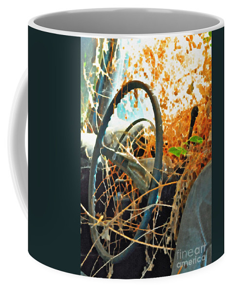 Steering Coffee Mug featuring the photograph Weedy Steering by Gwyn Newcombe