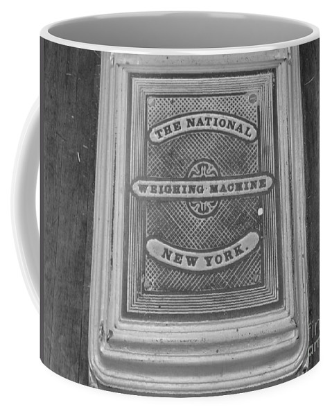 The National Weighing Machine New York Coffee Mug featuring the photograph Weight Scale by Michael Krek